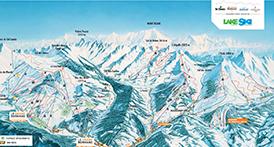 Plan des pistes de ski alpin Massif des Aravis