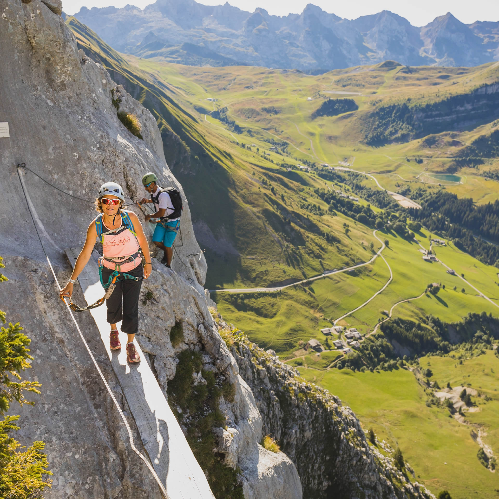Climbing and via ferrata