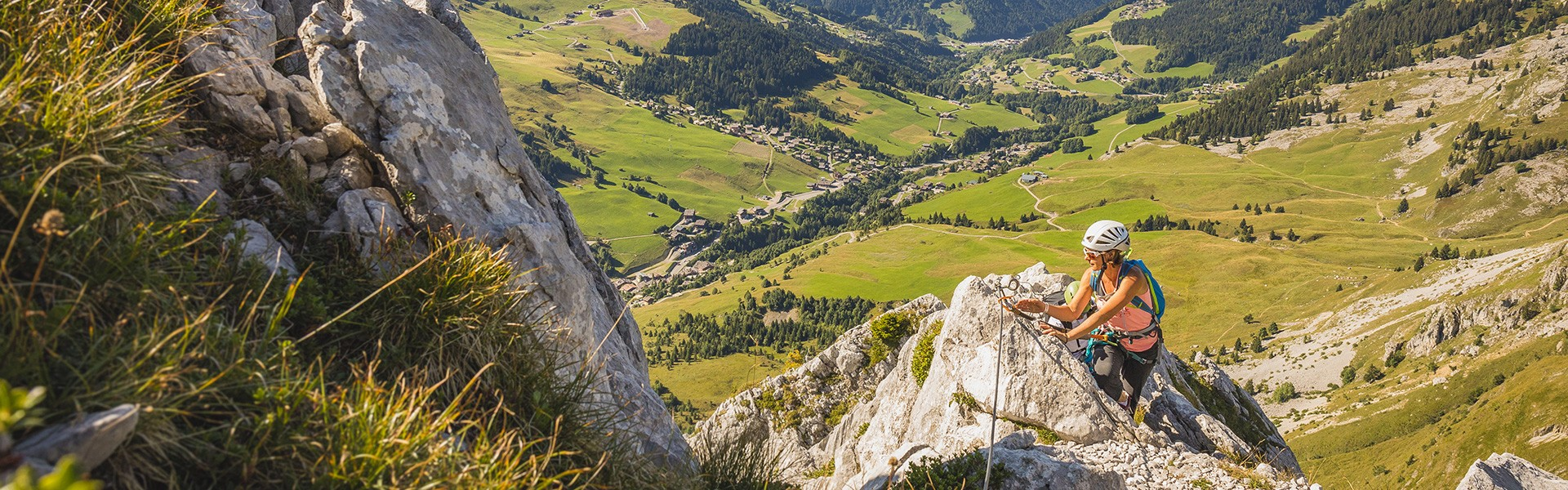 Climbing and via ferrata