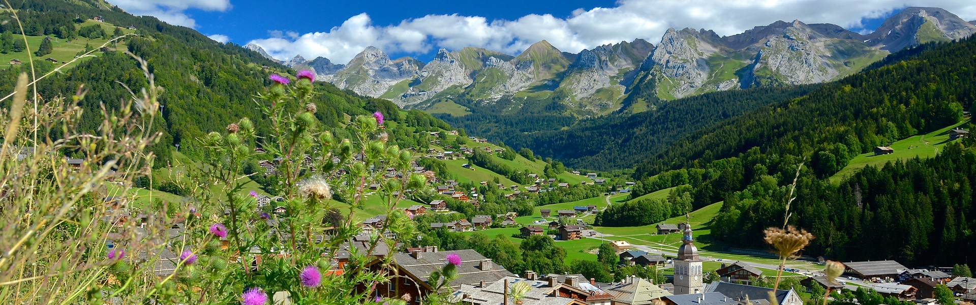 Grand-Bornand village summer