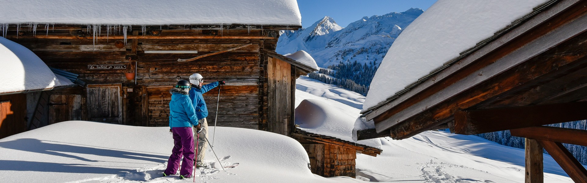 Ski dans les chalets