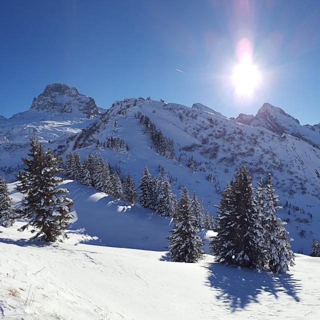 Panorama chaîne des Aravis