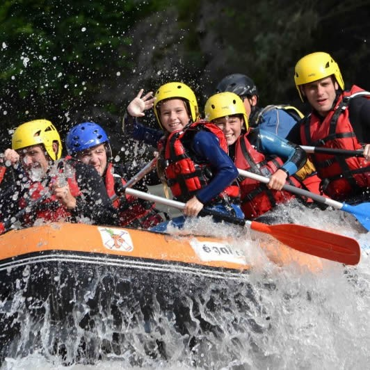 Rafting, canyoning and hydrospeed