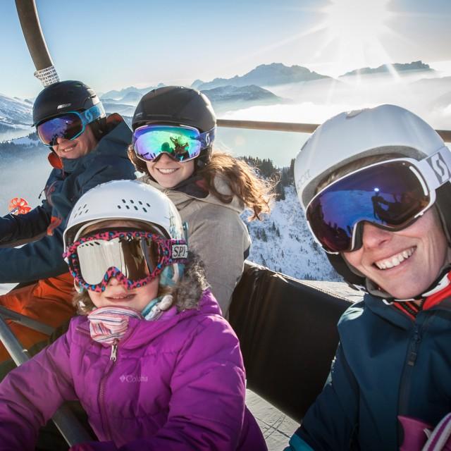 """Ski pass """"Sunset skiing"""""""