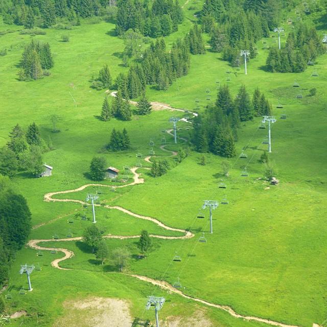 Summer ski lifts