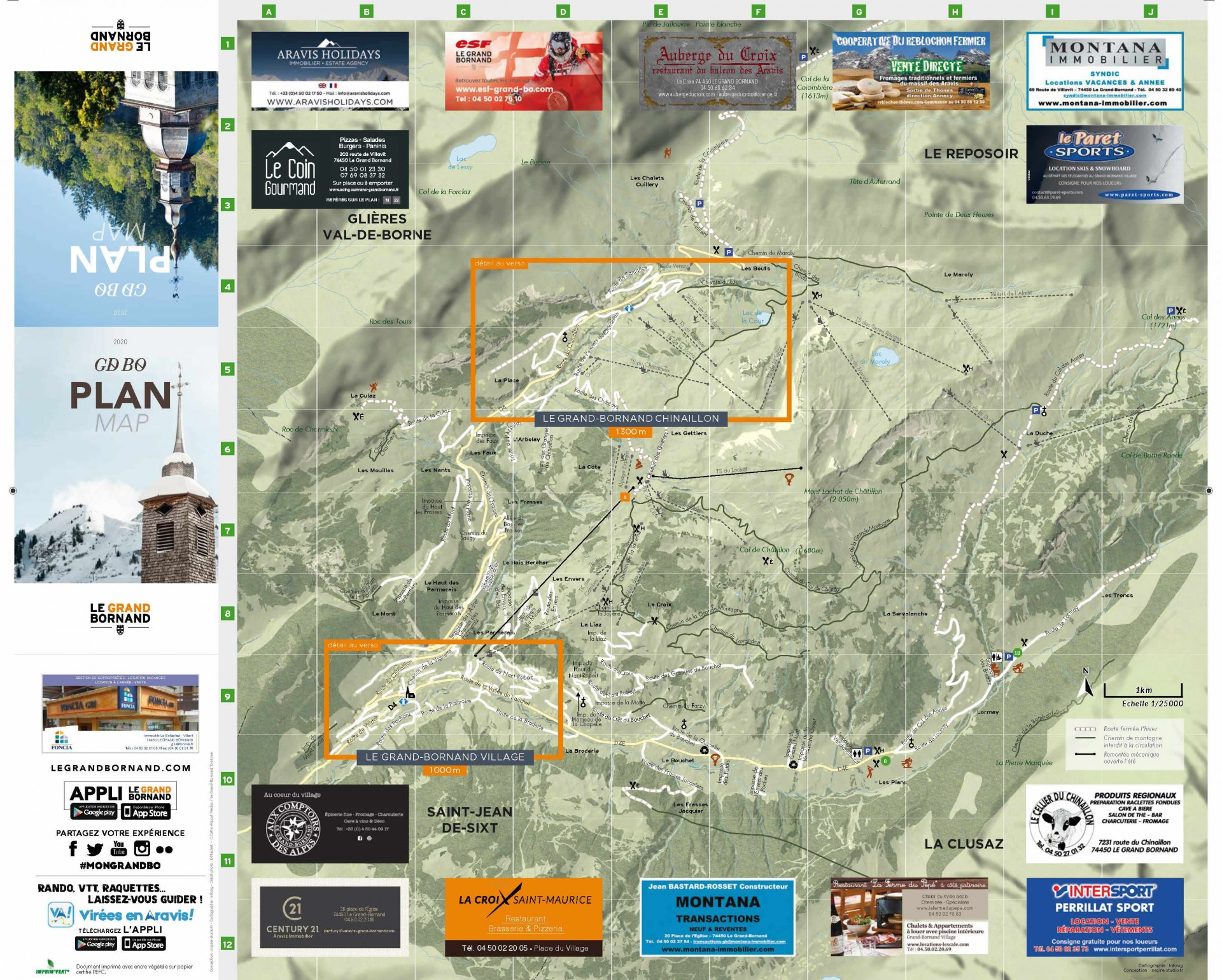 Plan général du Grand-Bornand