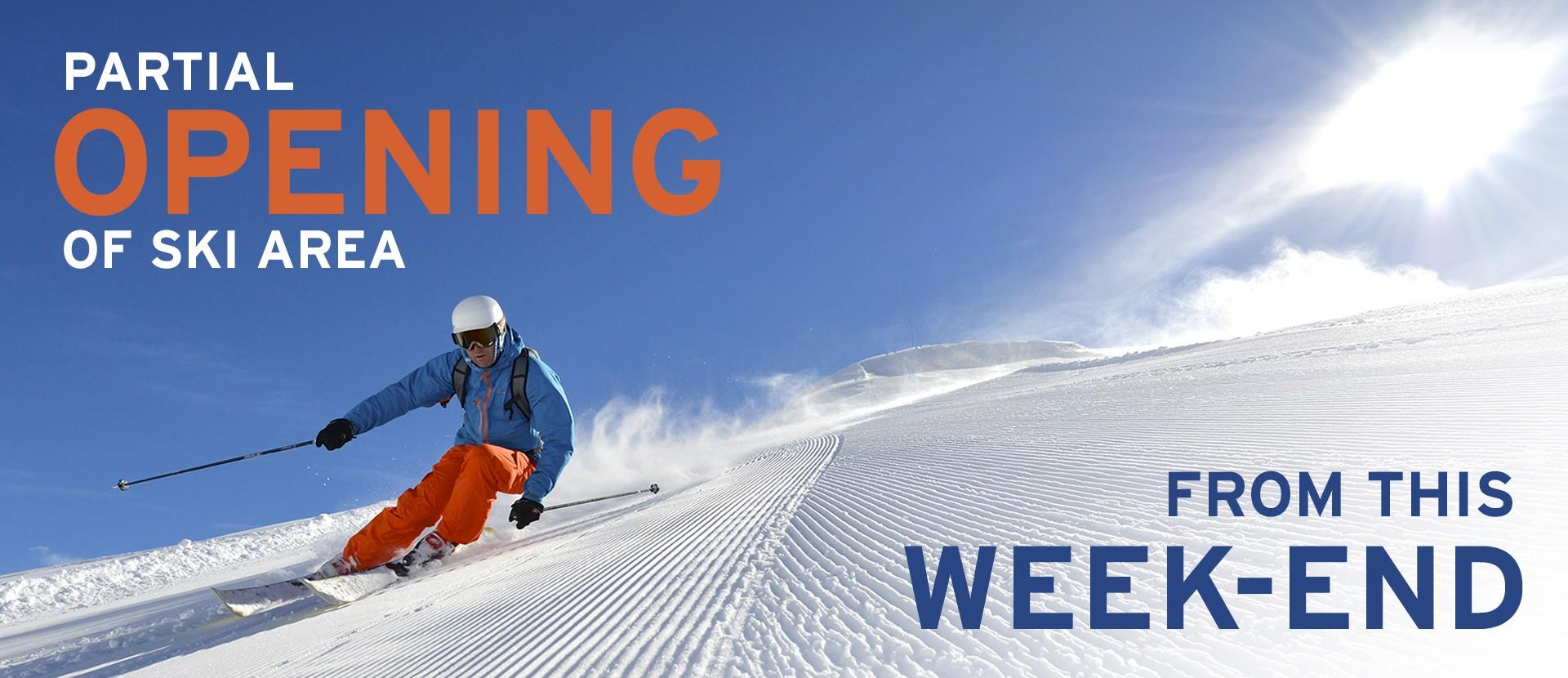 Ski area openning