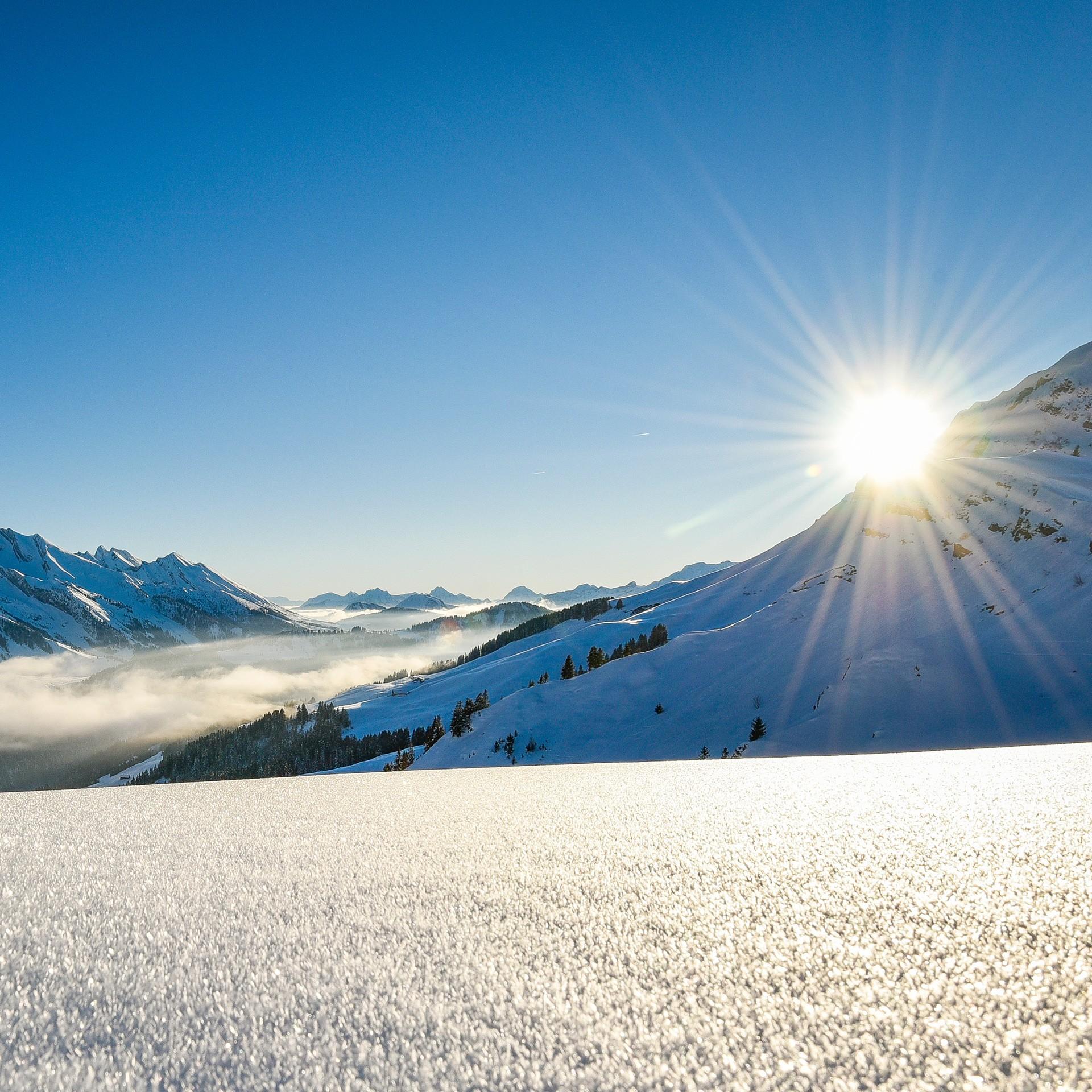Ski coucher de soleil au Grand-Bornand