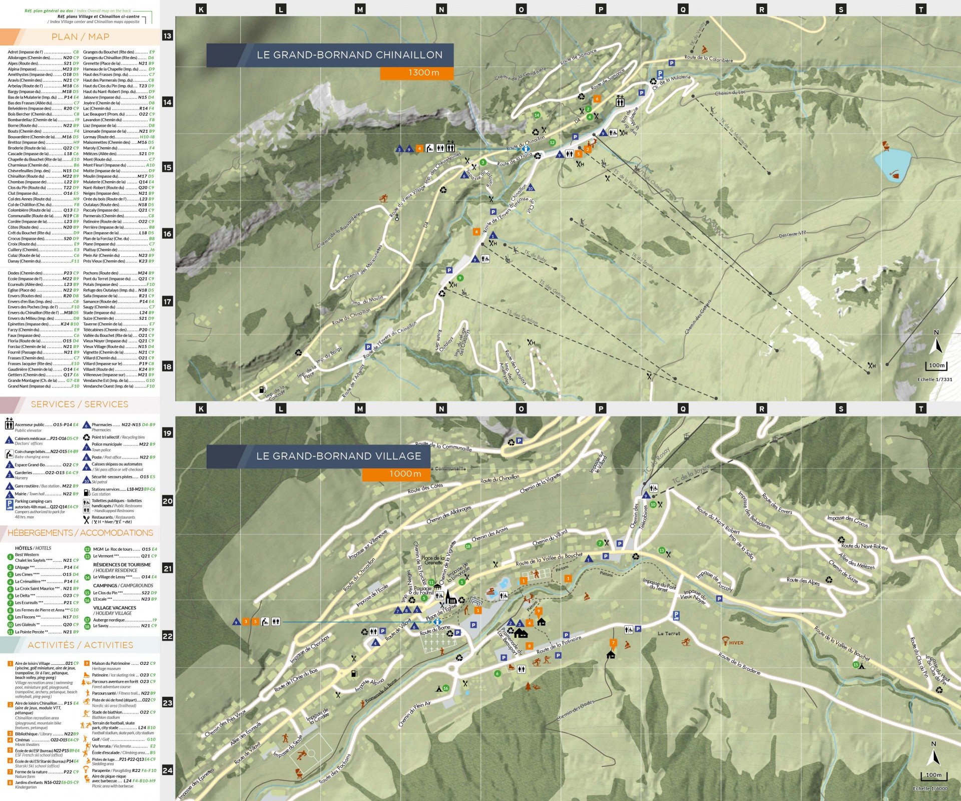 Zooms sur Le Grand-Bornand Village et Le Grand-Bornand Chinaillon