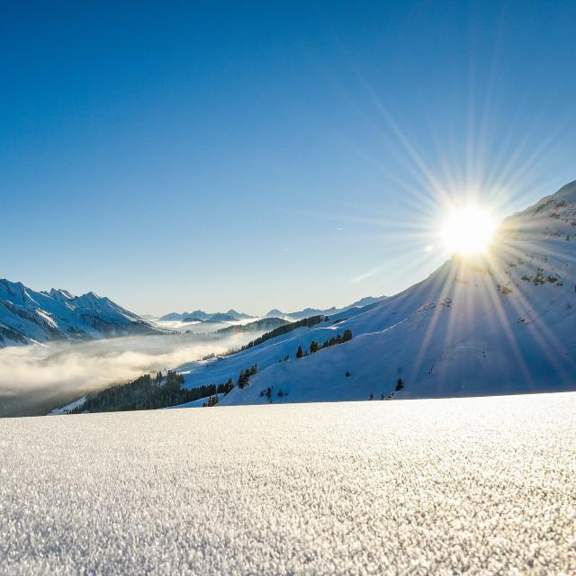 Le Grand-Bornand - ski coucher de soleil