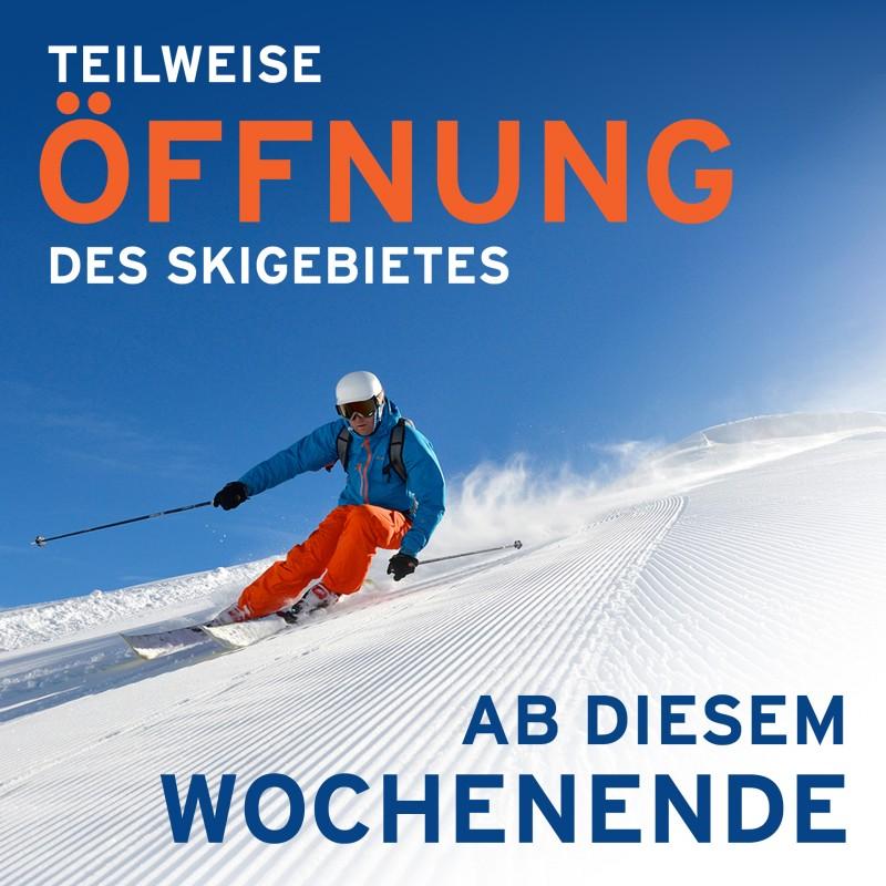 Teilweise Öffnung Des Skigebietes