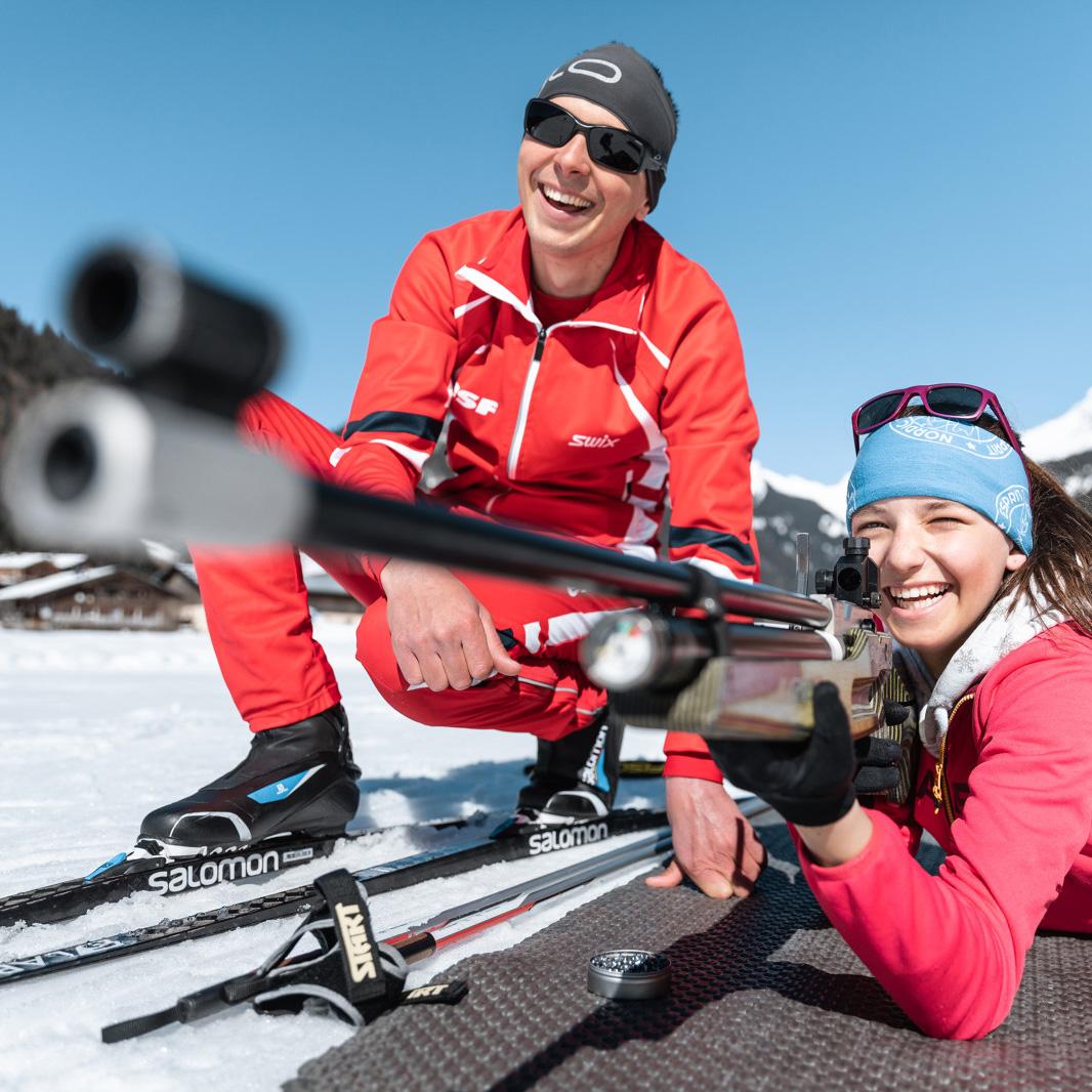 biathlon-esf-hiver-legrandbornand-activités - © C. Hudry