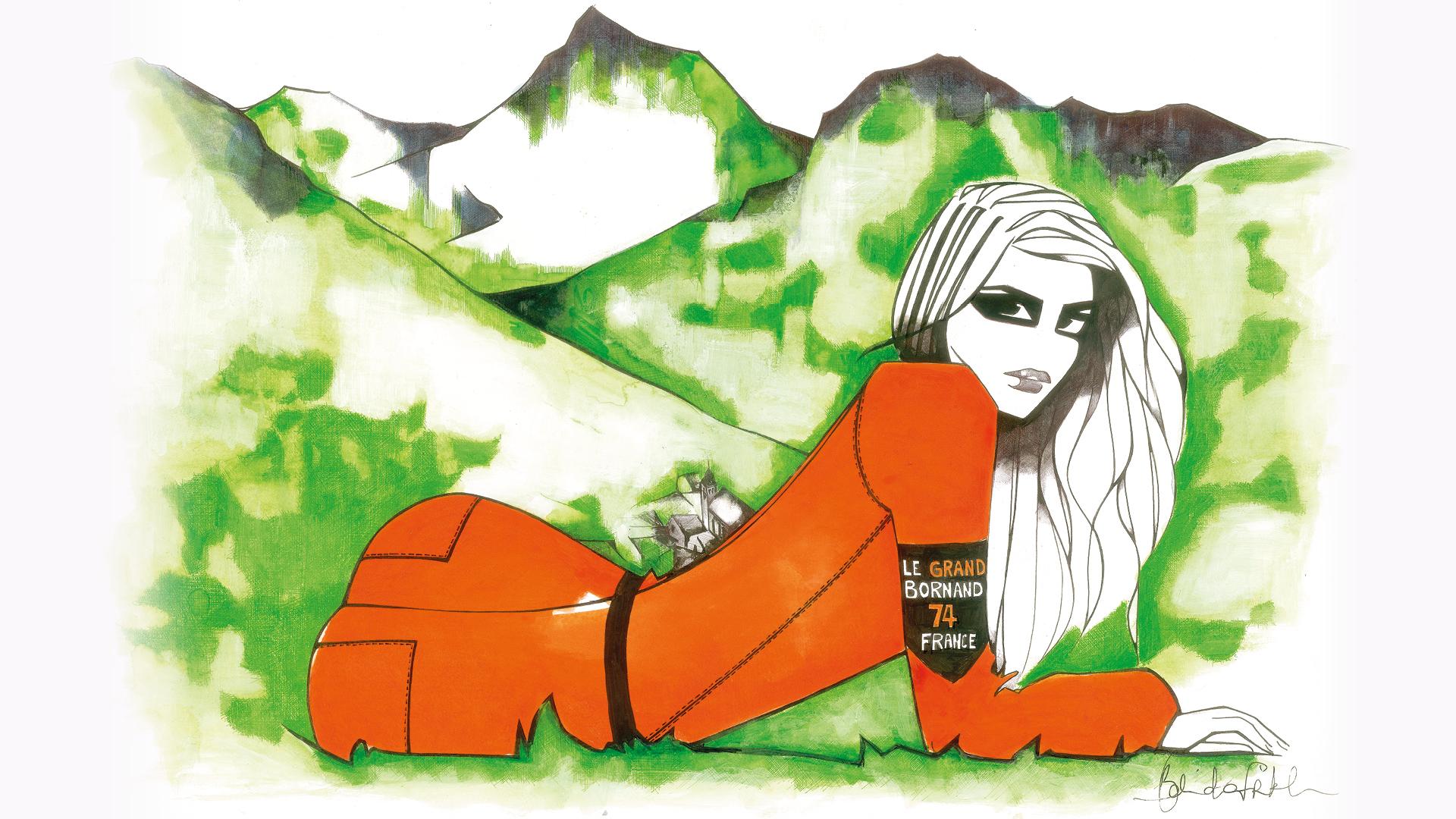 Oeuvre originale de Belinda Frikh pour le Grand-Bornand